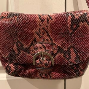 Coach Embossed Python Handbag
